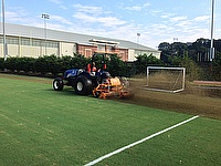 A SISIS Veemo in use at Clemson University in South Carolina, USA which is helping the university keep on top of its grounds and turf maintenance sche